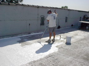 Smooth Built Up Roof During Coating Application